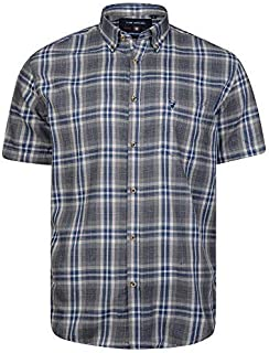 Kam Mens Poly Cotton SS Checked Shirts (AW18)