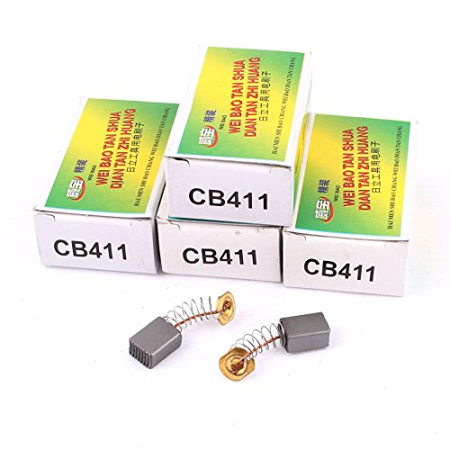 sourcing map 5 pares CB411 Escobillas de carbón de Motor eléctrico de...