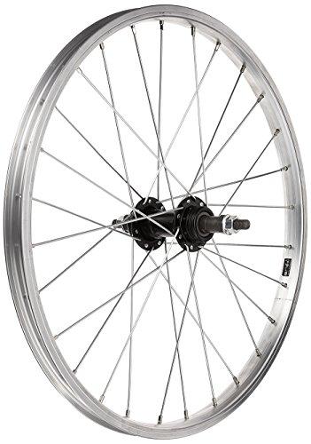 Tru-build Wheels RGR720 - Rueda Trasera para Bicicleta (20 x 1,75 Pulgadas), Color Plateado