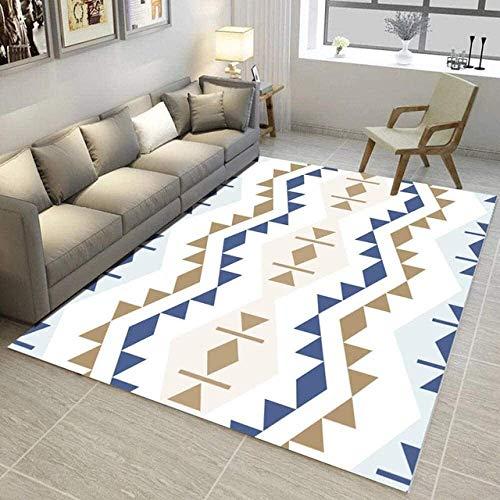 Modernes Einfaches Wohnzimmer Weiche Rechteckige Teppiche Mode Geometrisches Muster rutschfeste Couchtischdekor-Matte (Größe: 140 & Mal; 200 cm)