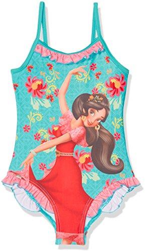 Disney Elena of Avalor Traje de baño de una Pieza, Azul, 5 años para Niñas