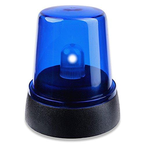 Schramm® LED Blaulicht 16 x14 x 9 cm Rundumleuchte Signallampe Blaulichtlampe Partylicht Dekolicht Blau Blinklicht