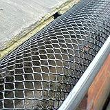 G4GADGET 16cm x 2m Mesh Gutter Guard Standard UK Guttering Block Leaves Moss Debris Shield
