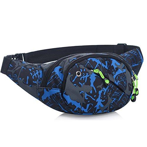 Riñonera lienzo 3-zipper Fanny Pack cintura bolsa
