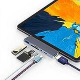 USB Type C ハブ USB C ハブ iPad Pro対応 4in1 Type-c hub 4K HDMI 出力 PD 充電対応 USB3.0 ハブ microSD/SD カードリーダー 3.5mm ヘッドホンジャック マイクロ タイプ C HDMI 変換 アダプタ