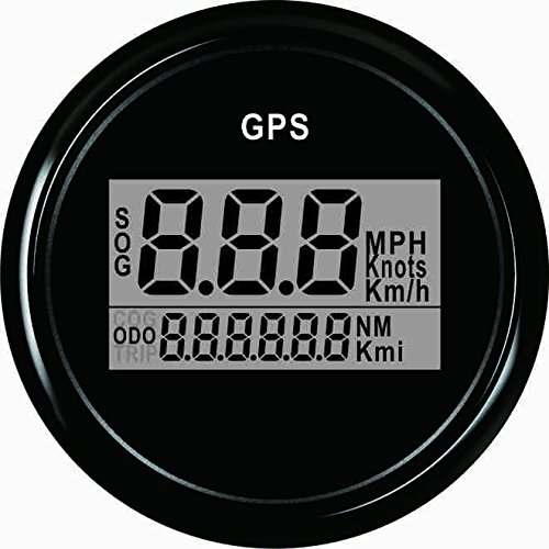 ELING Cuentakilómetros GPS digital con garantía Cuentakilómetros para embarcación con retroiluminación 2 pulgadas (52mm) 12V/24V