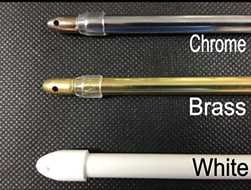 extensible Super ronde extensible Chrome Barre Voilage Pole120 filets – 200 cm (47–200,7 cm) à la maison