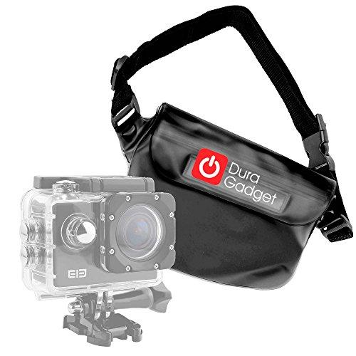 DURAGADGET Marsupio/Borsa Impermeabile Nera per Action Camera SmilyDirect | Sodao WiFi | Theoutlettablet | TopElek | Uvistar | Zenoplige 4K | ieGeek