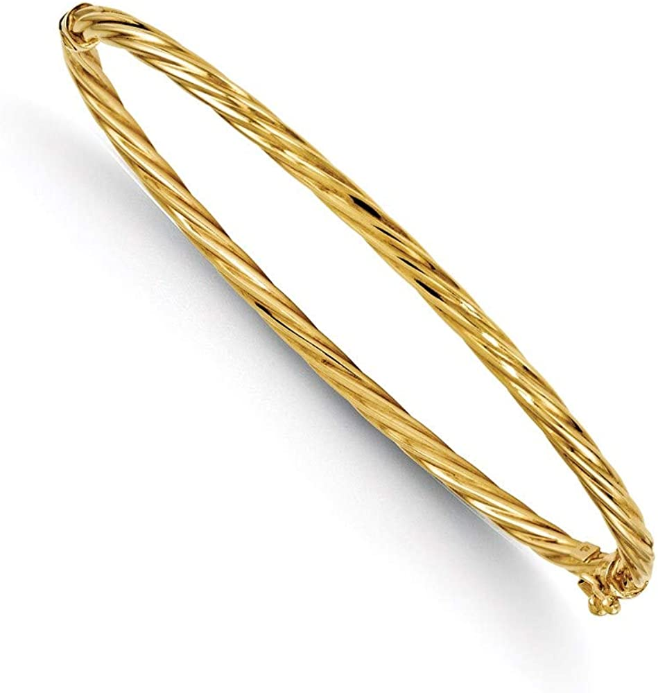 14k Yellow Gold Bangle Bracelet Cuff Expandable Stackable Hinged Fine Jewelry For Women Gifts For Her