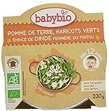 Babybio Assiette Pomme de Terre Haricots Verts Emincé de Dinde Fermière du Poitou...