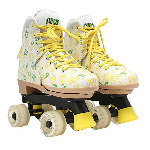 Circle Society Classic Adjustable Indoor and Outdoor Childrens Roller Skates - Crushed Pineapple