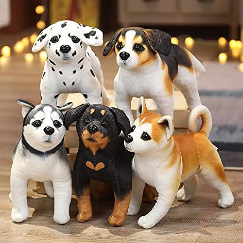 5pcs 3D Husky Akita Rottweiler Standing Dog Plush Toy 18cm,Stuffed Animals Toy...