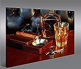 islandburner Bild Bilder auf Leinwand Zigarre V3 Whiskey
