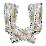 ZZKKO - Mangas para brazo de refrigeración con diseño de margarita para deportes de sol y deportes de contacto para hombres y mujeres, 1 par