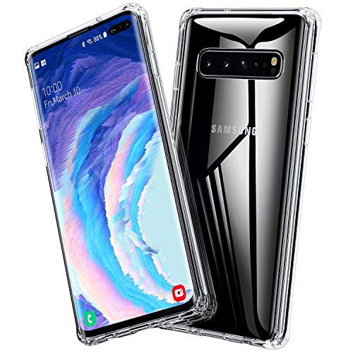 BANNIO Hülle Kompatibel mit Samsung Galaxy S10 5G,Durchsichtige 9H Hartglas Handyhülle,Kratzfeste mit Weichem TPU Bumper Glashülle Schutzhülle Case für Samsung Galaxy S10 5G,Crystal Clear