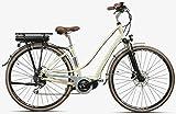 Montana E-Lunapiena - Bicicleta eléctrica para mujer, 28 pulgadas, color crema, tamaño del marco: 48 cm