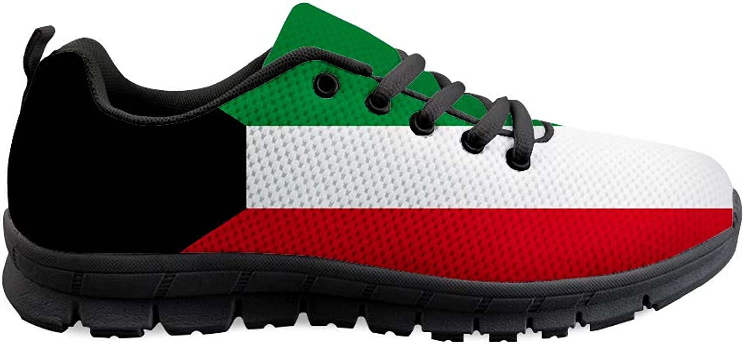 Owaheson Lace-up Sneaker Training shoes Mens Womens Kuwait Flag