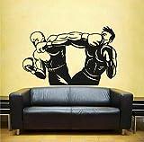wZUN 2pcs Vinilo Wall Decal Sticker Kick Boxing Gloves Gym Boxing Gym Wall Sticker 67X42cm