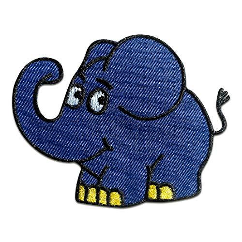 Aufnäher/Bügelbild - Elefant Sendung mit der Maus Kinder - blau - 7,5x5,8cm - Patch Aufbügler Applikationen zum aufbügeln Applikation Patches Flicken