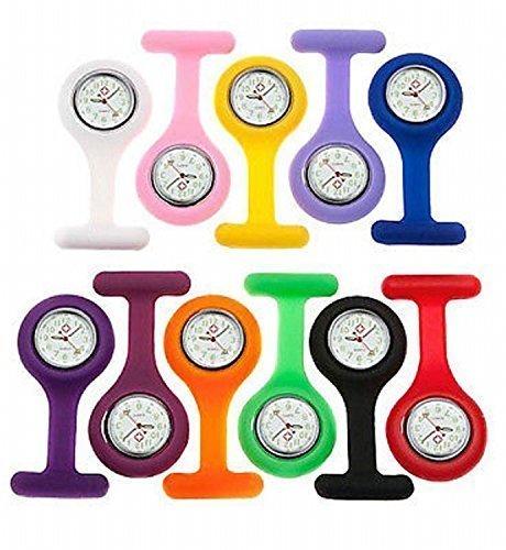 FreshGadgetz 1 Set di Orologio in silicone infermiera, Colore casuale