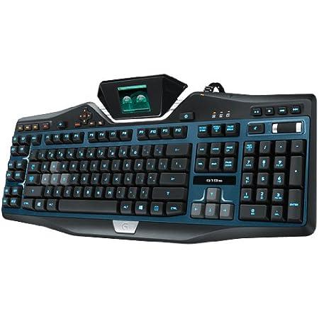 Logitech G19s - Teclado (USB, PC/Server, 2 KG, Pantalla incluida, QWERTY), Negro y Azul
