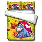 ZKDT Juego de ropa de cama 3D de Winnie The Pooh con diseño de Winnie the Pooh (estilo 4,135 x 200 cm)