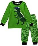 Jungen Schlafanzüge Kinder Langarm Dinosaurier Pyjama Zweiteiliger Nachtwäsche 92 98 104 110 116 122