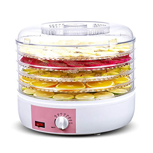 Sale!! SMLZV Food Dehydrator Machine - Five-Layer with Temperature Controlled Food Dryer - for Beef,...