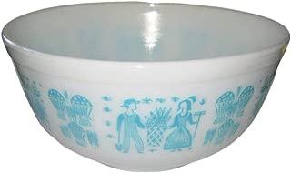 Vintage Pyrex Butterprint 2 1/2 Quart Mixing Nesting Batter Bowl, 8 1/2 x 5 Inches