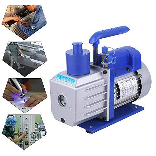 Alu Vakuumpumpe 2-stufig 142L/min Vakuumpumpe Unterdruckpumpe Vacuum Pumpe 2800 RPM