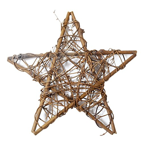 Cdet 1x Star Rattan Wreath Wedding Decor Wall Hanging Ornament Decoration Chic Wicker Door Window Photo Prop