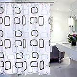 Duschvorhang Wasserabweisender Stoff 180 x 220 CM, Asnlove Polyester Duschvorhang Hochwertige Qualität Verstärktem Saum Waschbarer Textil Duschvorhang für Badezimmer 180 x 220 CM mit Duschvorhangringe