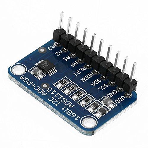 ADS1115 I2C Analog-Digital-ADC-Modul 16-Bit 4-Kanal-ADC-Entwicklungsboard Analog-Digital-Wandlermodul