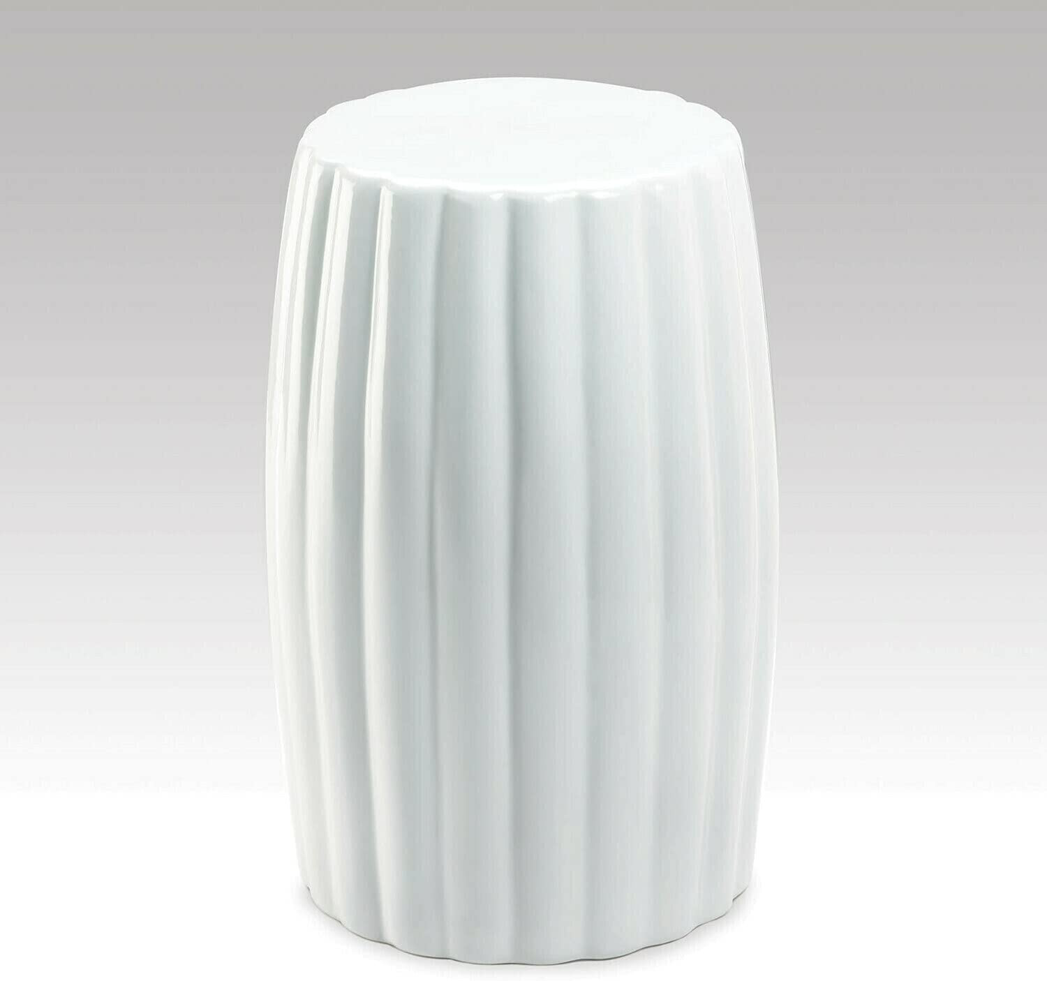 Gallery of Light Glossy White Ceramic Max 46% OFF Side Ranking TOP6 Stool Or Table