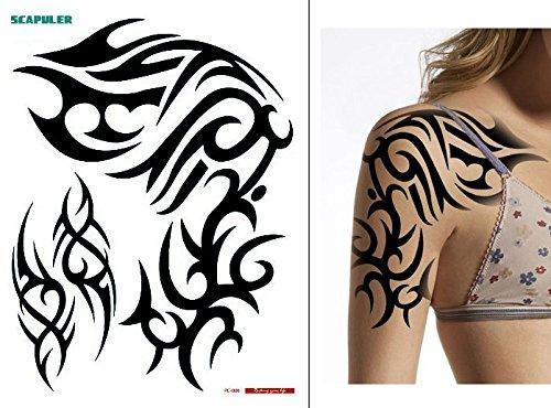 ARM SCHULTER TRIBAL TATTOO Temporär Oberarm Tattoo Fake Tattoo PC006
