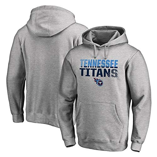 XXMM Men's Long Sleeve Hoodie, NFL Tennessee Titans Hoodie Football Sweatshirt Breathable Classic Sportswear,Suitable for Leisure And Fitness,L(170~175cm)