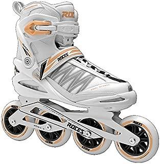 Roces 400818 Women's Model Xenon 2.0 Fitness Inline Skate, US 9, White/Salmon