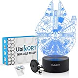 Ubikort Star Wars Lamp 3D Night Light Millennium Falcon, Great Star Wars Gifts for Men and Kids, Perfect Birthday Gift for Star Wars Decor ROM Fans [Upgrade Version]