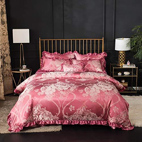 Literie - Ensemble de 4 pièces Doux et Confortable (Color : Red Bean Paste, Size : 1.5 m Bed)