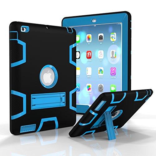 Funda para iPad 2/3/4, Fizze de Tres Capas de policarbonato y Silicona de Alto Impacto, híbrida, a Prueba de caídas, protección de Cuerpo Completo con función Atril para iPad 2/3/4 generación