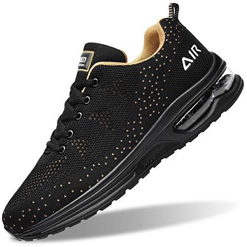 Zapatillas de tenis para hombre, ligeras, deportivas, para gimnasio, correr, caminar, EE. UU. 6.5-US12, amarillo (Amarillo), 40.5 EU