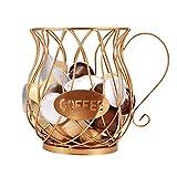 YUNYODA Cestino per caffè in cialde, supporti per caffè espresso, supporto per cialde, supporti per cucina per capsule di caffè