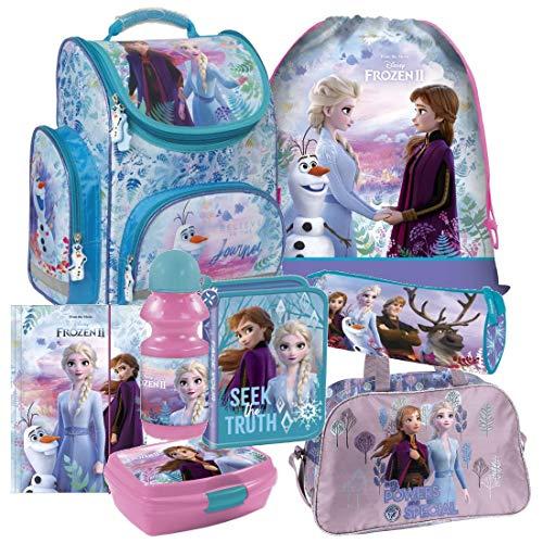 Frozen die Eiskönigin Disney 8 Teile Schulranzen Tornister mit Sticker von Kids4shop RANZEN Schulrucksack Federmappe Tasche Set