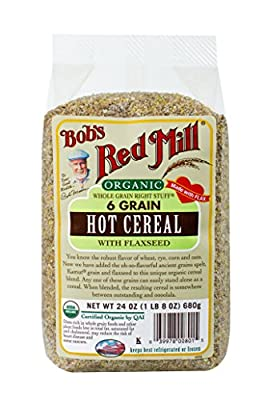Organic 6 Grain Hot Cereal with Flaxseed