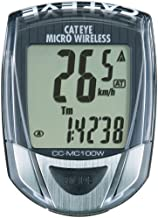 Cateye CC-MC100W Micro Wireless 10-Function Bicycle Computer (Black)