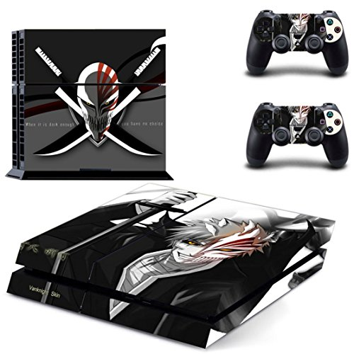 Vanknight Vinyl Decal Skin Sticker Anime Bleach Ichigo for PS4 Playstaion Controllers