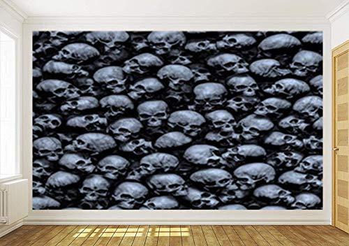 Fototapete Tapete Wanddeko Home Decor 3D Dark Gothic Skulls Selbstklebende Tapete Schlafzimmer Wohnzimmer Wandbilder Decals, 200Cmx140Cm