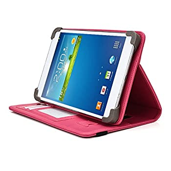 iNOVA EX756 7  Tablet Case UniGrip PRO Series - HOT Pink - by Cush Cases  Case Features PU Leather with Bulit in Stand Hand Strap 3 Card Slots and SIM Card Holder