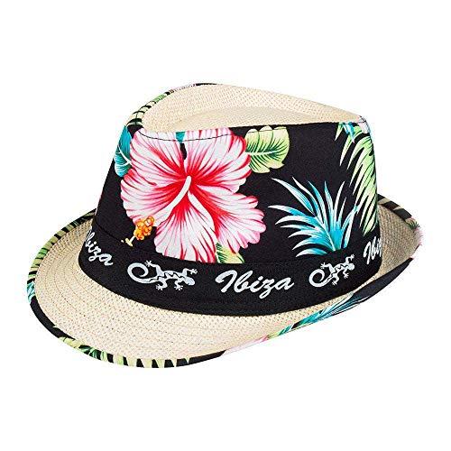 Boland 52226 - Hut Ibiza, Unisex, Blütenmotiv, Beachparty, Strandparty, Sonnenhut, Karneval, Mottoparty