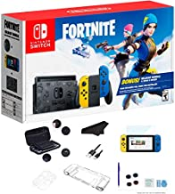 Newest Nintendo Switch Wildcat Bundle Fort-nite Special Edition 32GB Console - Yellow and Blue Joy-Con, 6.2